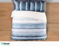 Ultramarine Duvet Cover top-view