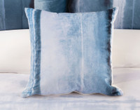 Ultramarine Square Cushion Cover on bed