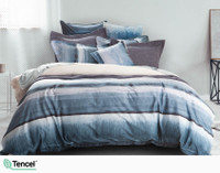 Ultramarine Bedding Collection in white bedroom