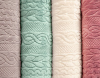 Cable Knit Blanket - Seafoam