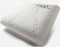 MLILY® Bamboo Charcoal Memory Foam Pillow, laying down.