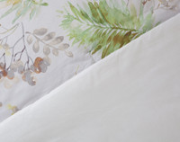 Lallia Cotton Comforter, front and reverse view