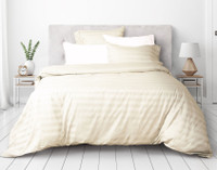 Pima Cotton Duvet Cover Set - Bone