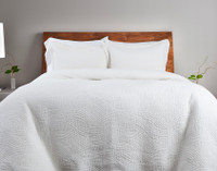 Echo Cotton Quilt Set - White