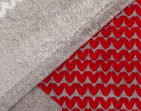 Side by side view of the Canada Fleece Throw front and reverse.