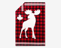 Moose Canada Fleece Throw