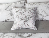 Merano Square Cushion Cover on bed