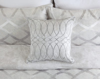 Cosmopolitan Square Cushion, on bed