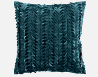 Yarrow Textured Square Cushion Cover - Deep Teal