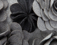 Rosa Boudoir Cushion Cover - Charcoal