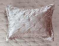 Lennox Velvet Quilt Set - Antique Gold