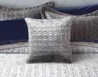 Lennox Velvet Square Cushion Cover  - Platinum