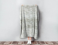 Woodgrain Fleece Throw