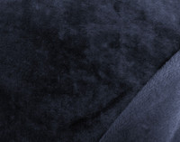 Close up of colour on Cashmere Touch Fleece Blanket in Navy, a rich dark blue.
