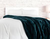 Cashmere Touch Fleece Blanket - Deep Sea