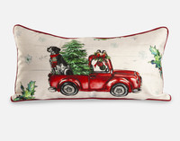 Holiday Cushion Cover - Red Truck