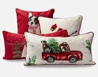Holiday Cushion Cover - Holiday Pup