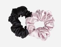 Silk Scrunchies - Lavender & Black