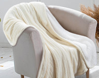 Cozy Knit Throw - Cream
