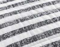Delray Navy Cotton Quilt Set