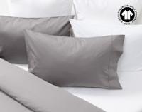300TC Organic Cotton Duvet Cover pillow sham in Sleet