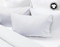 300TC Organic Cotton Duvet Cover pillow sham in White