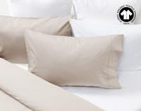 300TC Organic Cotton Duvet Cover pillow sham in Stone