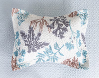 Sea Leaves Coverlet Set**
