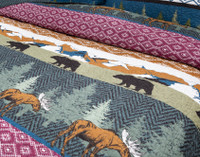 Great Frontier Cotton Quilt Set close-up