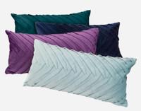 Velvet Leaves Boudoir Pillow Cover - Teal