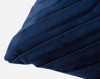 Velvet Leaves Boudoir Pillow Cover - Marine Blue