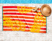 Pineapple Stripe - Beach Towel