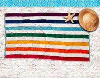 Rainbow Stripe - Beach Towel