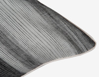 Berkeley Pillow Sham close up view featuring a vertical striped pattern in light silver to dark charcoal grey