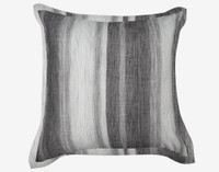 Berkeley square cushion cover featuring a diamond print in shades of grey and white