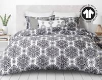 300TC Organic Cotton Duvet Cover Set - Pietra