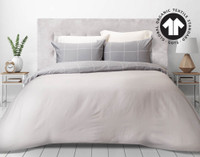 300TC Organic Cotton Duvet Cover Set - Fremont
