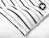 Close up of corner of 300TC Organic Cotton Duvet Cover Set in Lineas