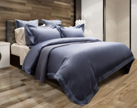Sovereign Collection 800TC Pima Cotton Duvet Cover Set - Noble Blue