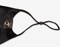 Side view of Black Silk Face Mask.