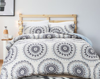 Go for a laid-back look with our Kabala Comforter Set, featuring a trendy medallion print in shades of navy and cornflower blue.