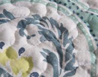 Close up of stitching on Bali Coverlet Set.