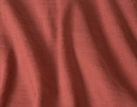 Close up of crinkled Linen Blend Fabric in Apple Butter Red