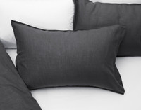 Linen Blend Pillowcases in Charcoal Grey