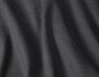 Close-up of Crinkled Linen Blend Duvet Cover in Charcoal Grey