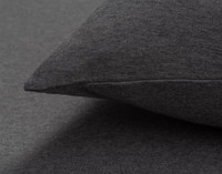 TENCEL™ Modal Jersey Pillowcase in Charcoal Close-up