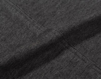 TENCEL™ Modal Jersey Sheet Set in Charcoal Seam Close-up