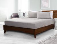 TENCEL™ Modal Jersey Sheet Set  in Granite on Bed