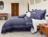 Side view of Sumatra bedding collection.