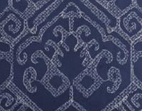Close up of silver tribal border on Sumatra Square Cushion Cover.